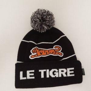 Le Tiger Mens Pom Pom Hat New!!